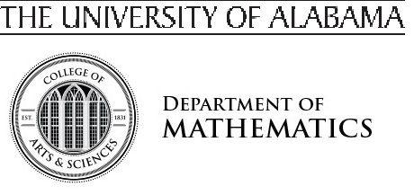 The University of Alabama Department of Mathematics